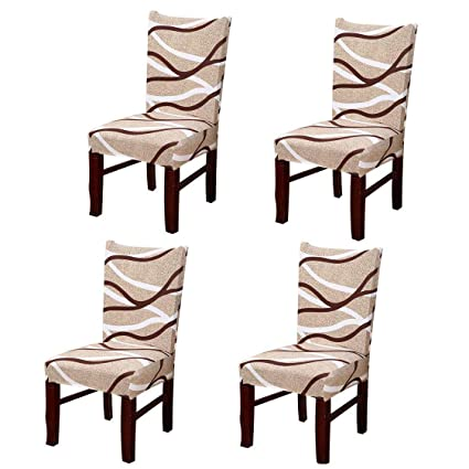 Phenomenal Pinji 4Pcs Stretch Chair Cover Spandex Washable Short Dining Room Slipcover Party Hotel Wedding Ceremony Seat Protector 3 Beatyapartments Chair Design Images Beatyapartmentscom