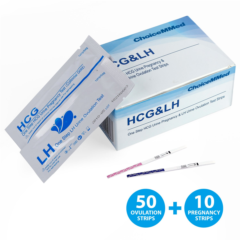 ChoiceMMed 50 (LH) Ovulation & 10 (HCG) Pregnancy Test Strips