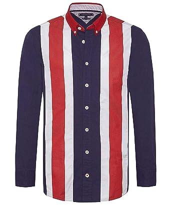 4c6f5c79 Tommy Hilfiger Men's Oversized Fit Icon Panelled Shirt Multi Coloured:  Amazon.co.uk: Clothing