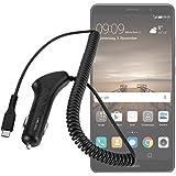 yayago KfZ Ladekabel 2 Ampere Micro USB 3.1 Typ C - Schnell-Lader - 12/24V PKW LKW Auto Ladegerät für Huawei Mate 9