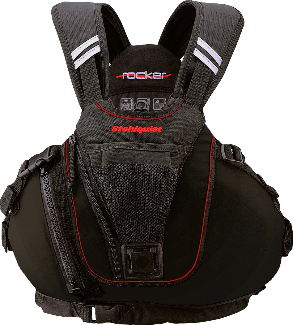 Stohlquist Rocker Personal Floatation Device, Black, Small/Medium