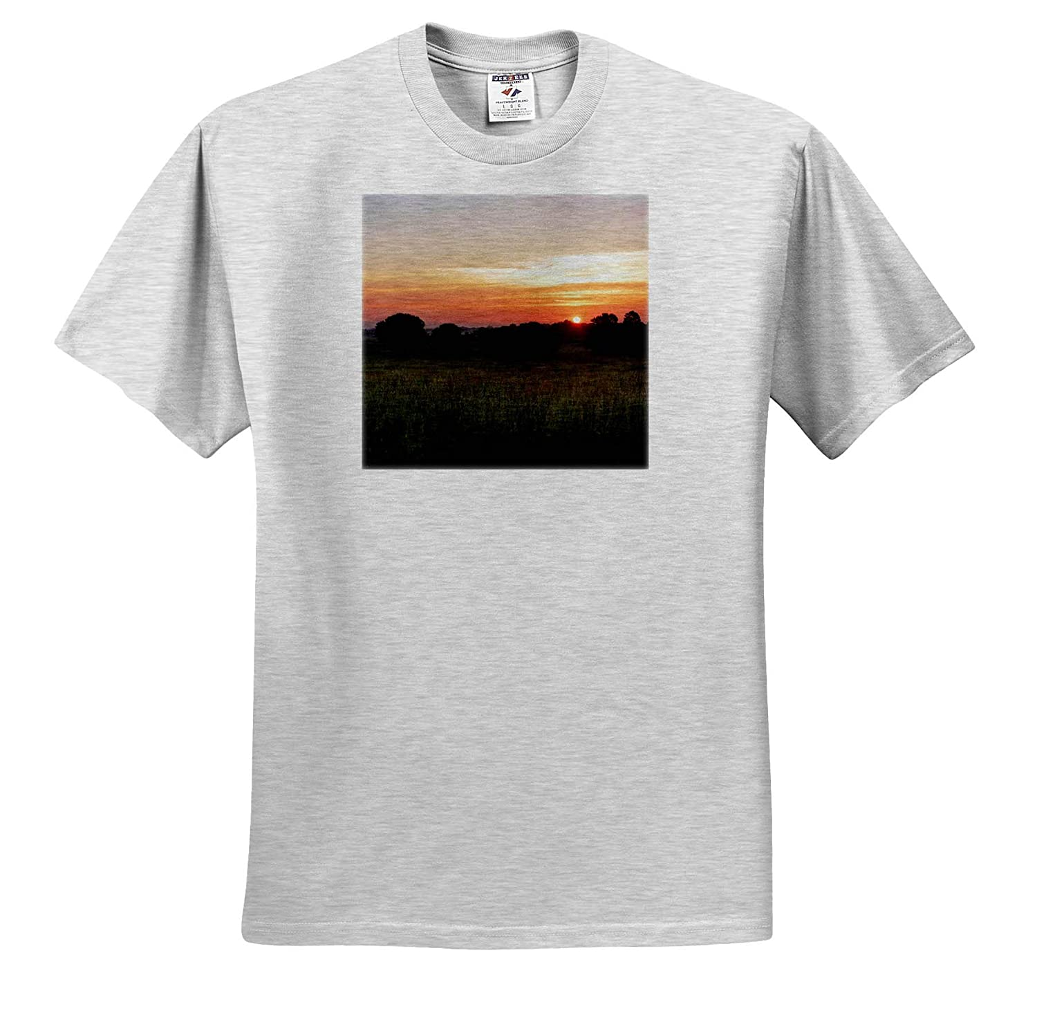 Nature - T-Shirts Photograph of a Beauteous Sunrise in Upstate South Carolina 3dRose Stamp City