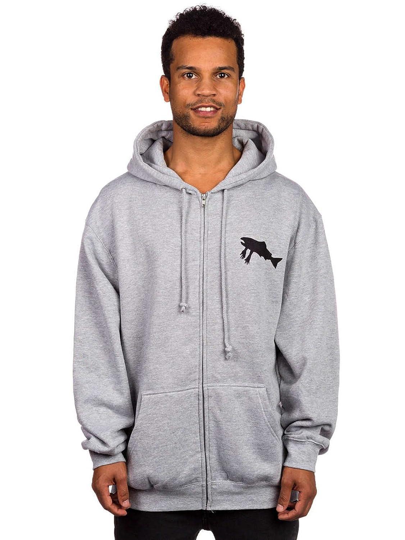 Sweater Hooded Zip Men Salmon Arms Canned Zip Hoodie