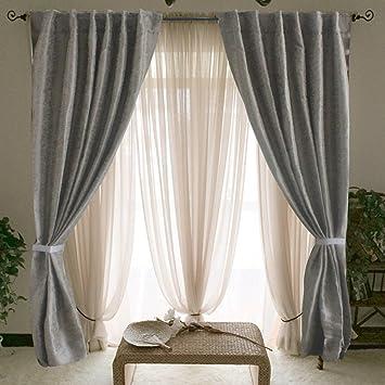 Jacquard Grigio Finestra Tende per la finestra di camera da letto ...