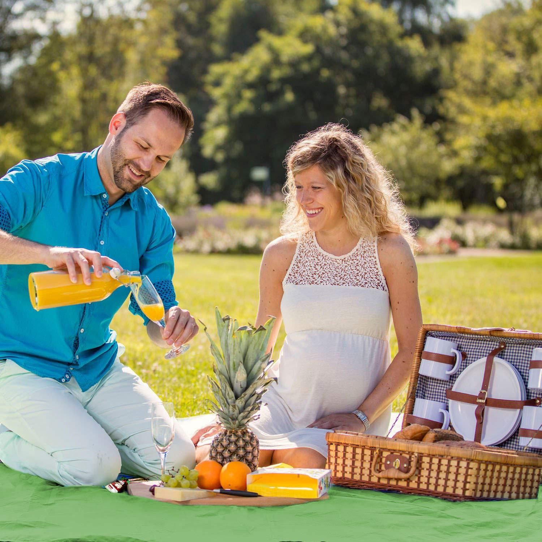 Blau SAMENY Outdoor Picknickdecke,Picknick-Matte Campingdecke Stranddecke Matte Decke Wasserdicht f/ür Str/ände,Picknicks,Parks,Camping und Outdoor-Aktivit/äten Picknick Matte,210x150cm