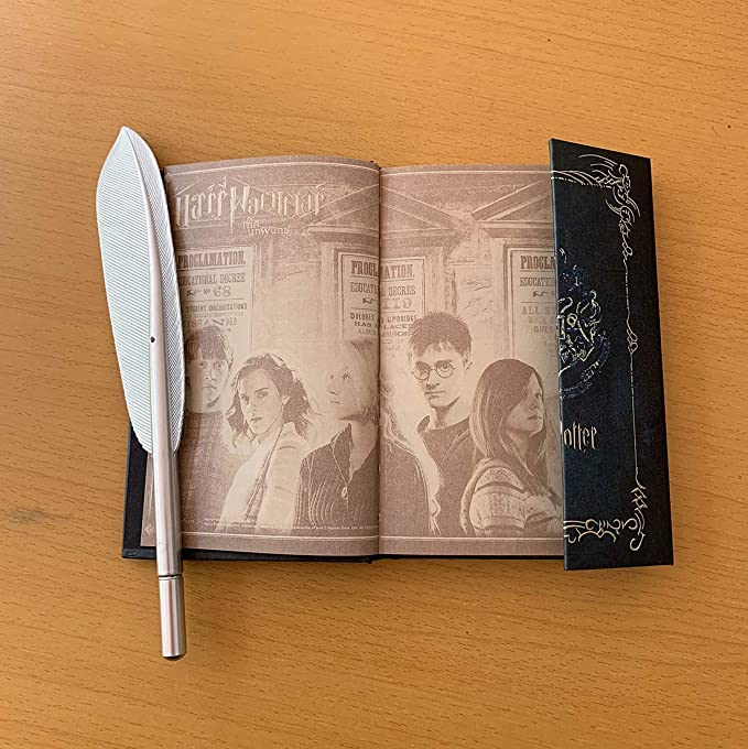 2019 Harry Potter Diary Planner Journal Book and Hogwarts Pen Gifts Set Harry Potter Vintage Agenda Notebook Notepad with Feather Quill Pen for Harry ...
