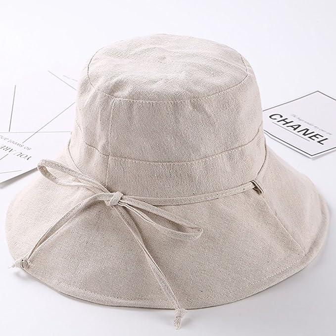 BUYITNOW Women s Sun Beach Bucket Hat Foldable Wide Brim Summer UPF 50  Anti-UV Dress Hat at Amazon Women s Clothing store  5a02baf10
