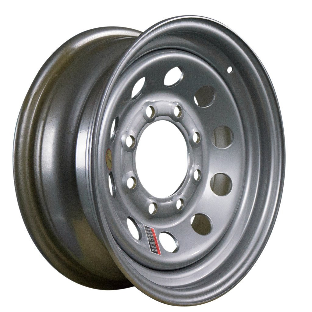 Arcwheel Silver Modular Steel Trailer Wheel – 16'' x 6'' Rim - 8 on 6.5 3,750lb Capacity