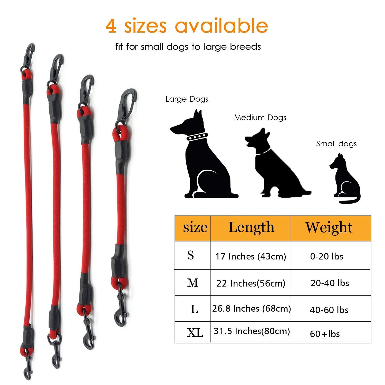 Black L AMZNOVA Dog Seat Belt Explosion-proof Rushed Dog Car Harness Restraint Pet Safety Latch Seatbelt Durable for Cat Puppy Small Large Dogs Travel Carring
