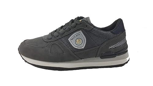 by NAVIGARE Scarpa Uomo Man Casual Sneakers Navy Sail Fondo Gomma 3050 (41  EU 94916f3267a