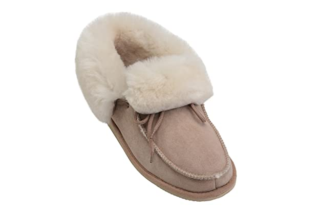 213fe64d7 Amazon.com   Rusnak Womens Mens Luxury Fully Wool Lined Sheepskin Moccasin  Slippers Shoes   Slippers