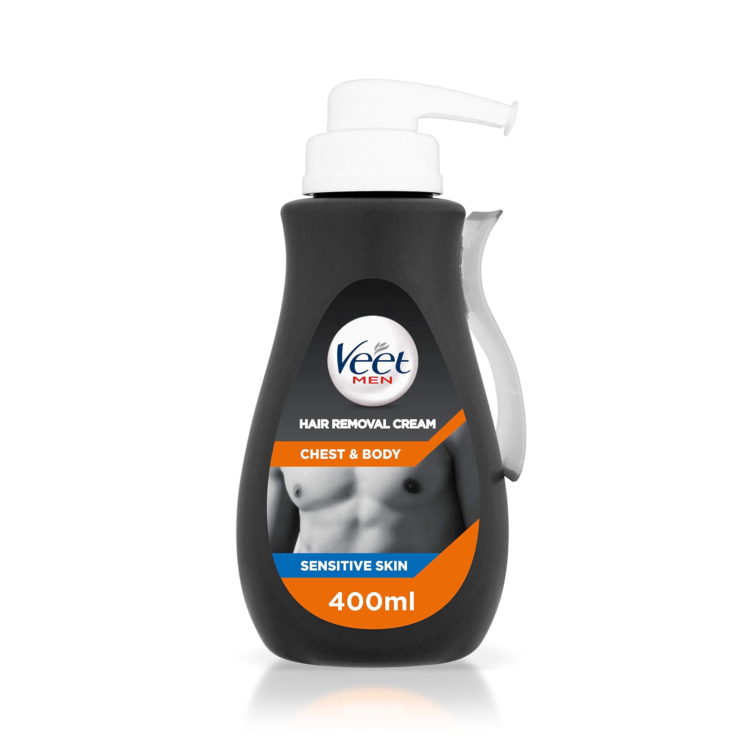 Veet Men Hair Removal Cream Chest & Body, 400 ml