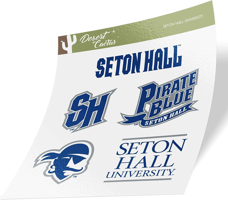 Seton Hall University SHU Pirates NCAA Sticker Vinyl Decal Laptop Water Bottle Car Scrapbook (Type 2 Sheet)