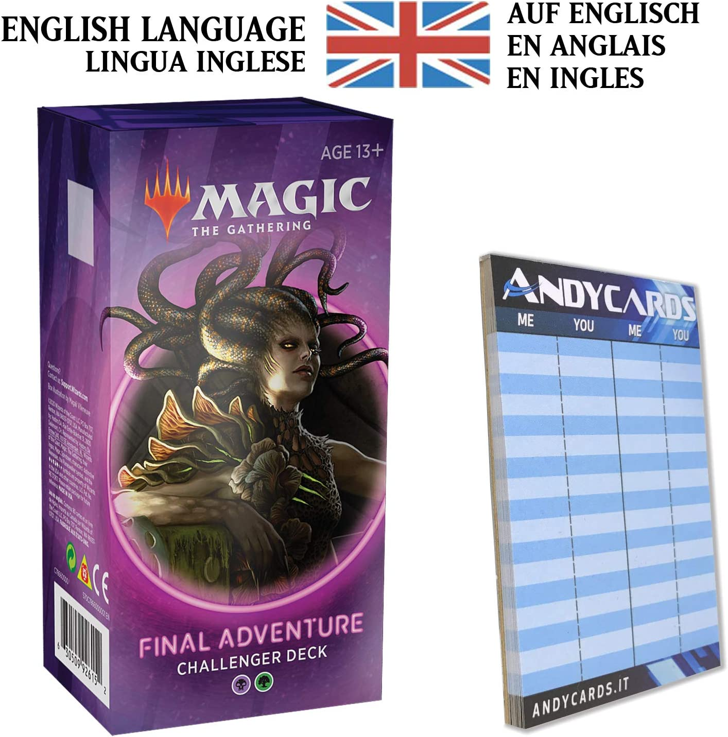 Andycards Final Adventure in English - Challenger Deck 2020 Green Black - MTG Magic The Gathering + Scorepad