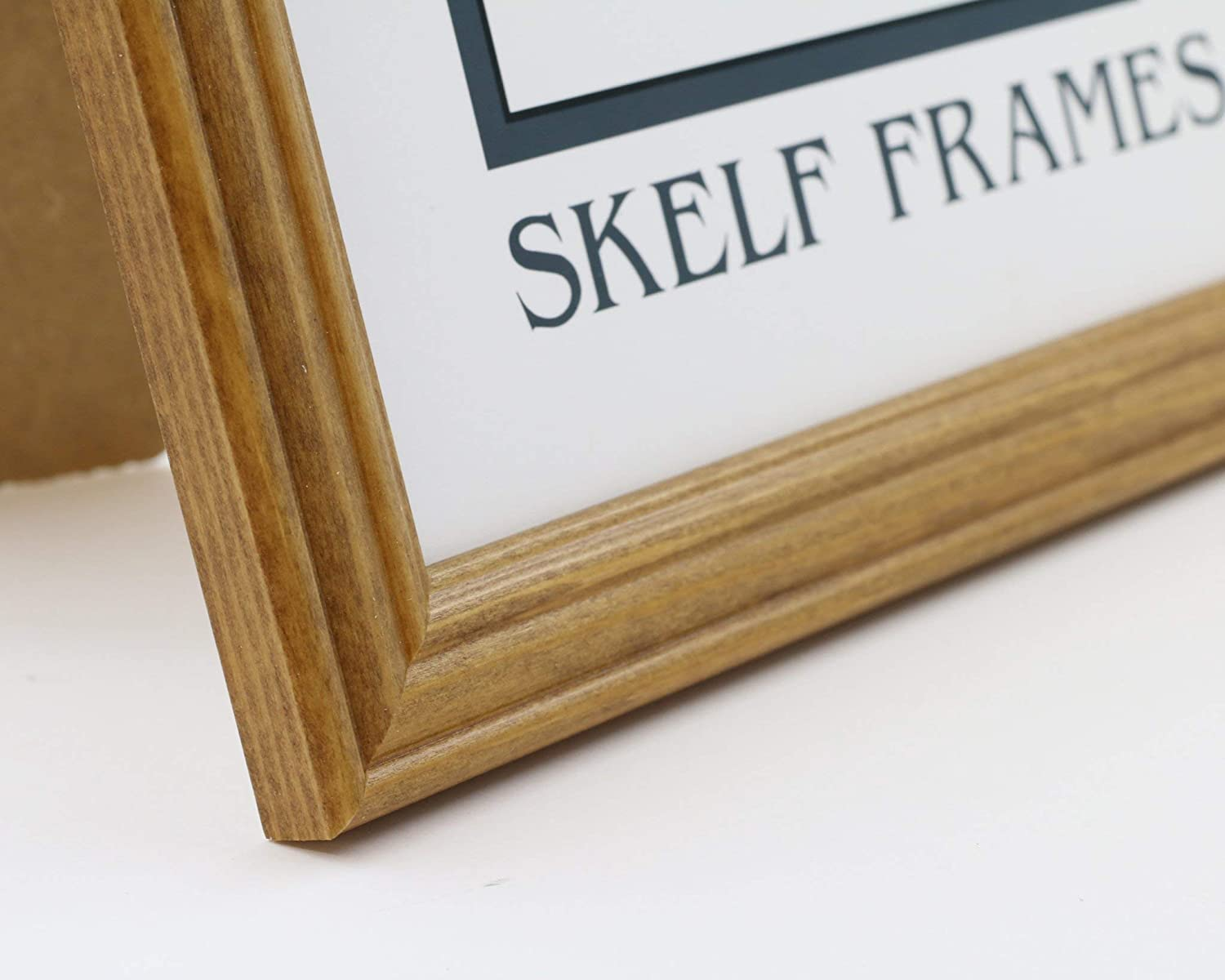 Multiple Sizes Skelf Frames A2 Picture Photo Frame in Honey Pine with Glass Hand made in Yorkshire