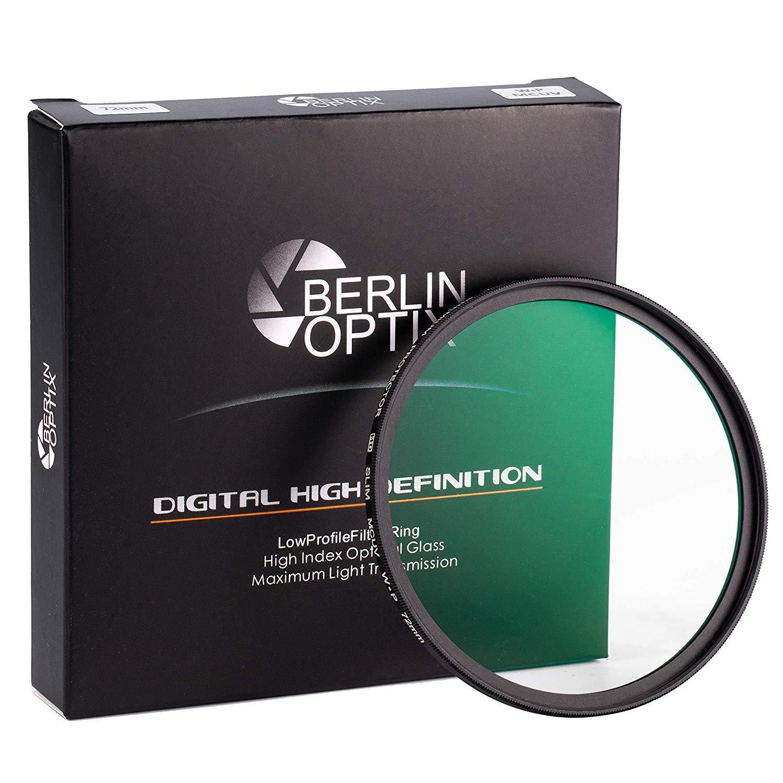 Berlin Optix Premium Filtro UV 55mm ∙ Vidrio Schott ∙ 16 Capas MC multirresistentes ∙ Filtro Ultra Delgado de protecci/ón de Lente ∙ Objetivo Ultravioleta de Aluminio