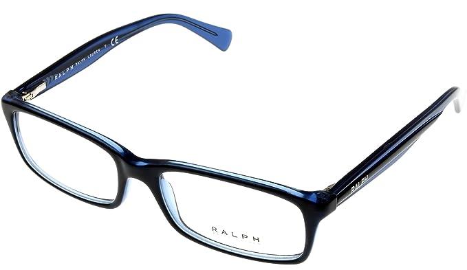 457415d7bde4 Image Unavailable. Image not available for. Colour: Ralph by Ralph Lauren  Women Eyeglasses Designer Blue Rectangular RA7047 1228