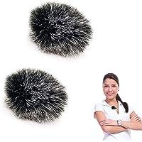 2 Pcs MicróFono Cubierta De Piel piel artificial micrófono MicróFono Parabrisas Exterior Parabrisas De Micrófono De Piel…