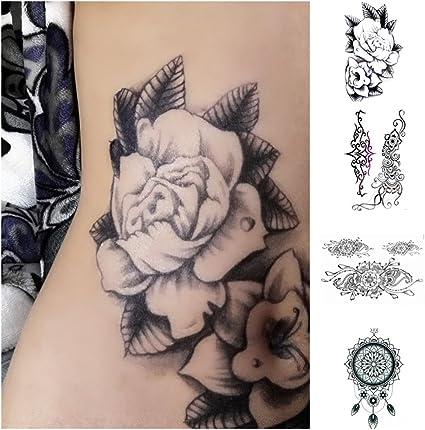 LZC 4Pcs 15 x 21 cm tatuaje temporal adulto para el hombro y ...