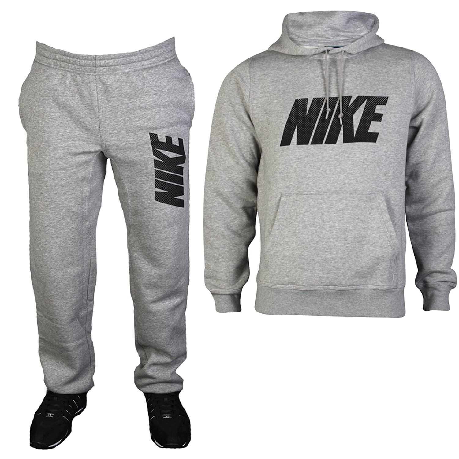new concept 9336f 7d29e ... Tech 2.0 Fleece Jogging Pant - Grey Mens Grey Nike Jersey Lounge Sports  Hoody Top Bottoms ...