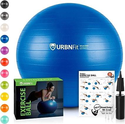 URBNFit Pelota de gimnasio para ejercicio (varios tamaños y ...