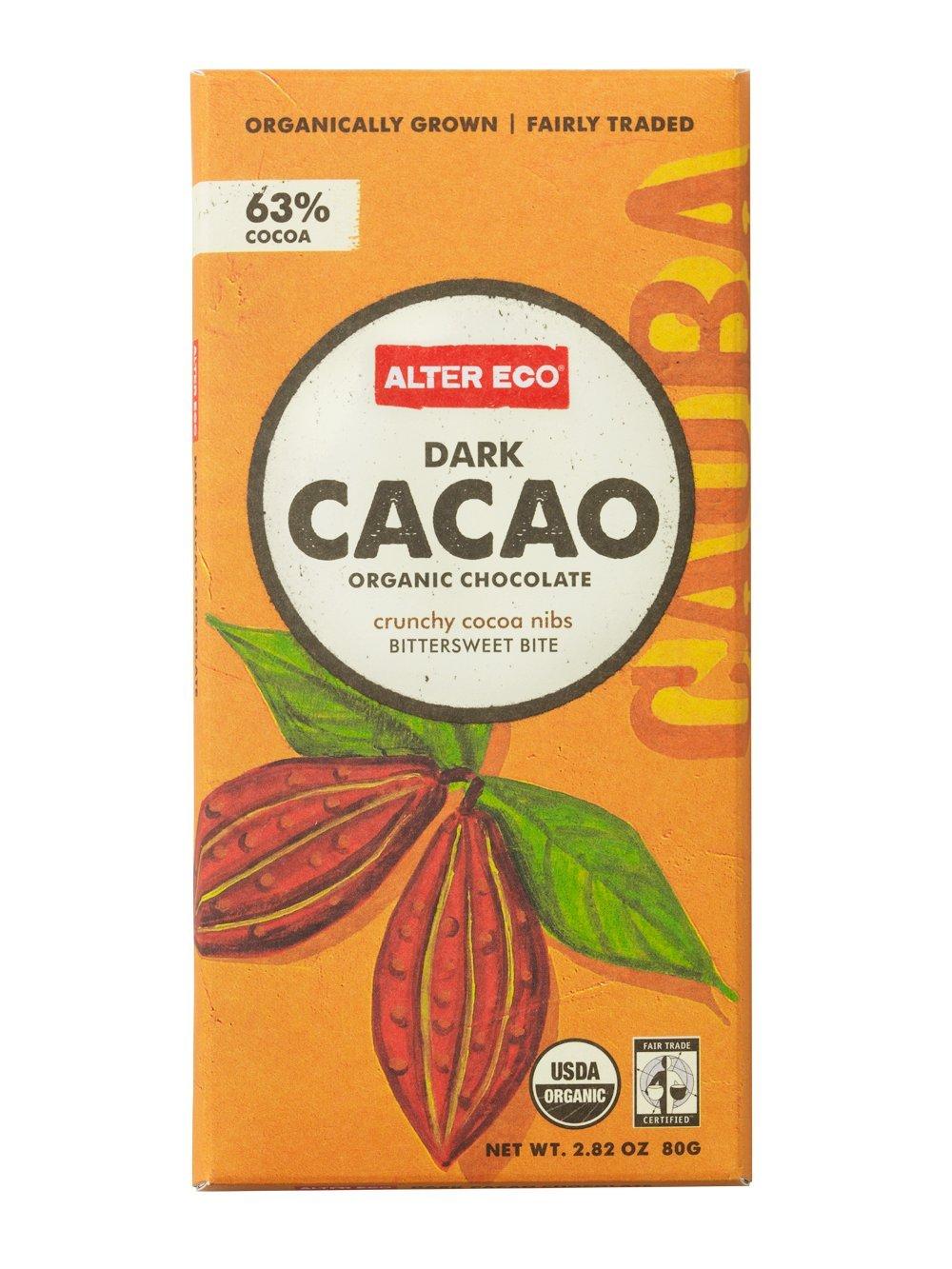 Amazon.com : Alter Eco - Dark Cacao Organic Chocolate - 2.82 oz ...
