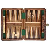 Lakshya-Wooden Backgammon Set Classic Board Game Box Portable Travel Friendly Family Fun