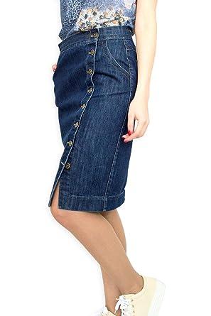 9f33746d86 Souvenir-Fashion New Ladies Casual Boutique Knee Length Pencil Blue Denim  Skirt UK 8 10 12 14 16 18 20 22: Amazon.co.uk: Clothing