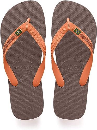 Havaianas Brasil Logo, Chanclas Unisex Adulto, Marrón (Dark Brown/Orange), 43/44 EU: Amazon.es: Zapatos y complementos
