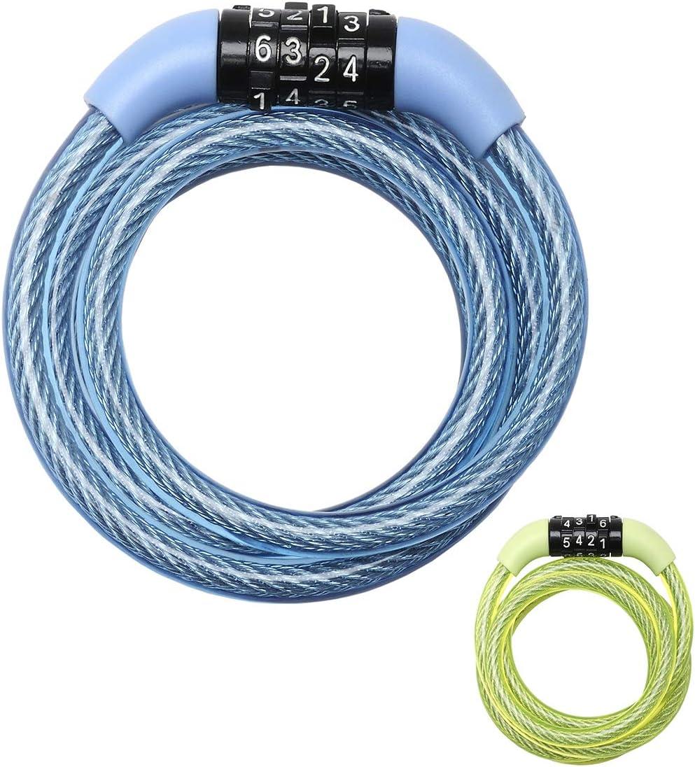 MASTER LOCK Candado Bicicleta [1,2 m Cable] [Combinación] [Exterior] [Color al Azar] 8143EURDPROCOL - Ideal para Bicicleta, Monopatín, Paseante, Cortacésped y Otro Equipo