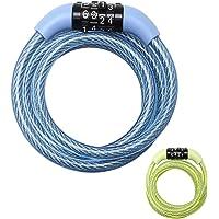 MASTER LOCK Candado Bicicleta [1,2 m Cable] [Combinación]