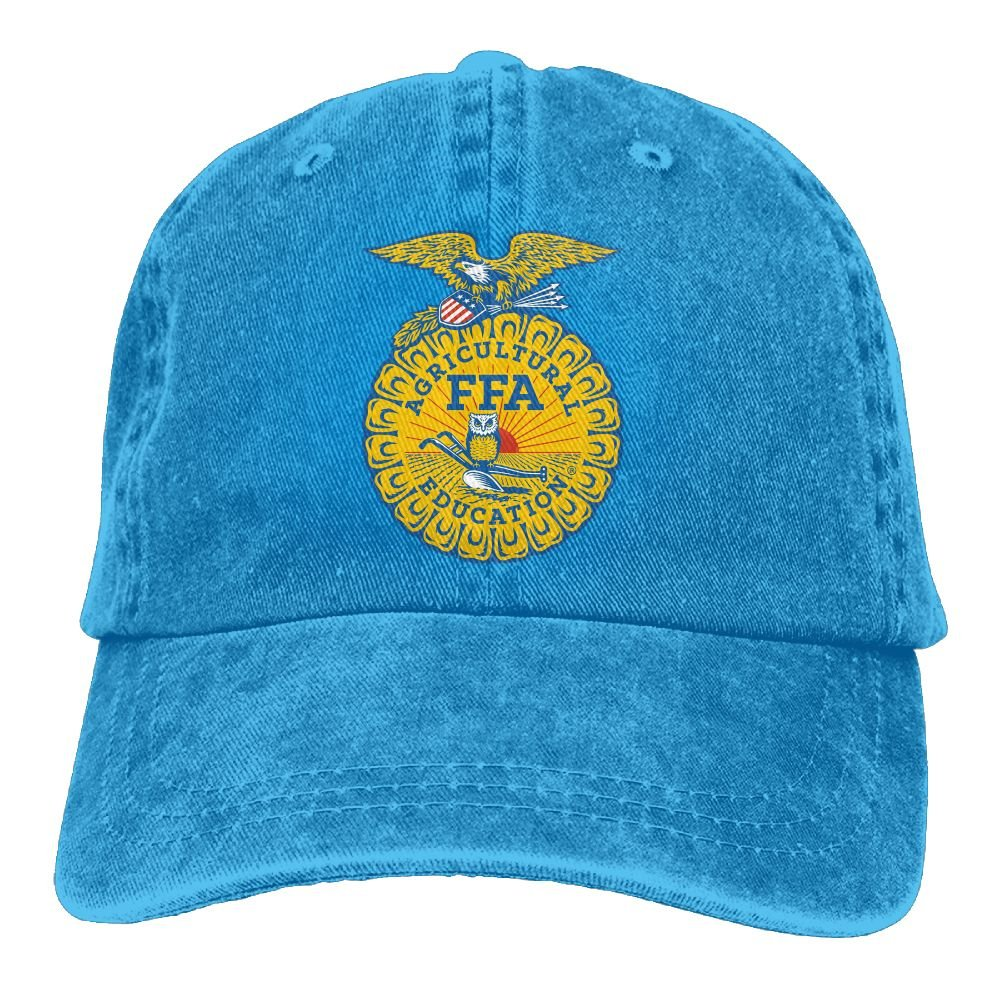 National FFA Organization Plain Adjustable Cowboy Cap Denim Hat for Women and Men
