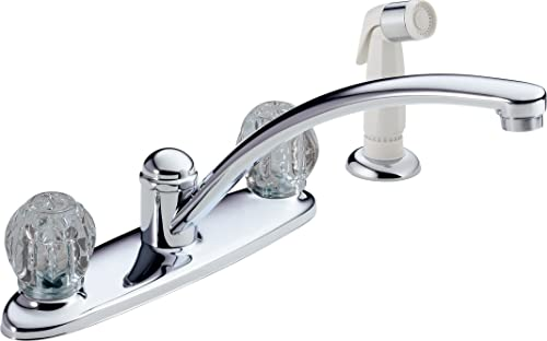 Delta Foundations B2412LF Two Handle Kitchen Faucet With Spray, Chrome