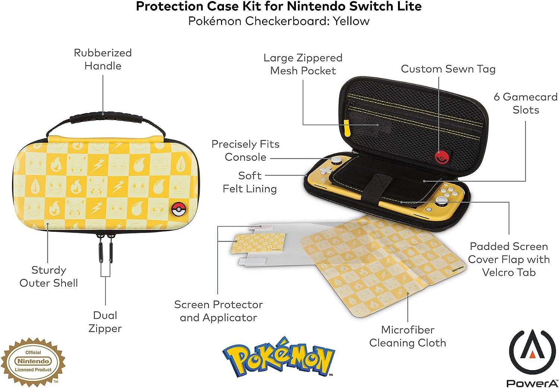 PowerA - Kit de estuche protector Pokémon a cuadros, Amarillo ...