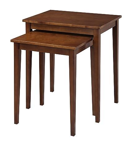 nesting end tables. Convenience Concepts American Heritage Nesting End Tables, Espresso Tables
