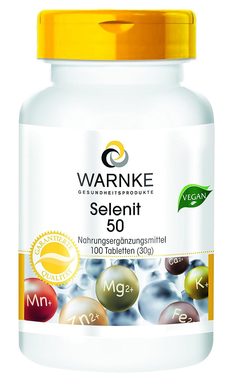 Selenita 50 - selenita sódica con 50 μg de selenio - 100 comprimidos - artículo vegetariano - 1 Paquete 31g: Amazon.es: Salud y cuidado personal