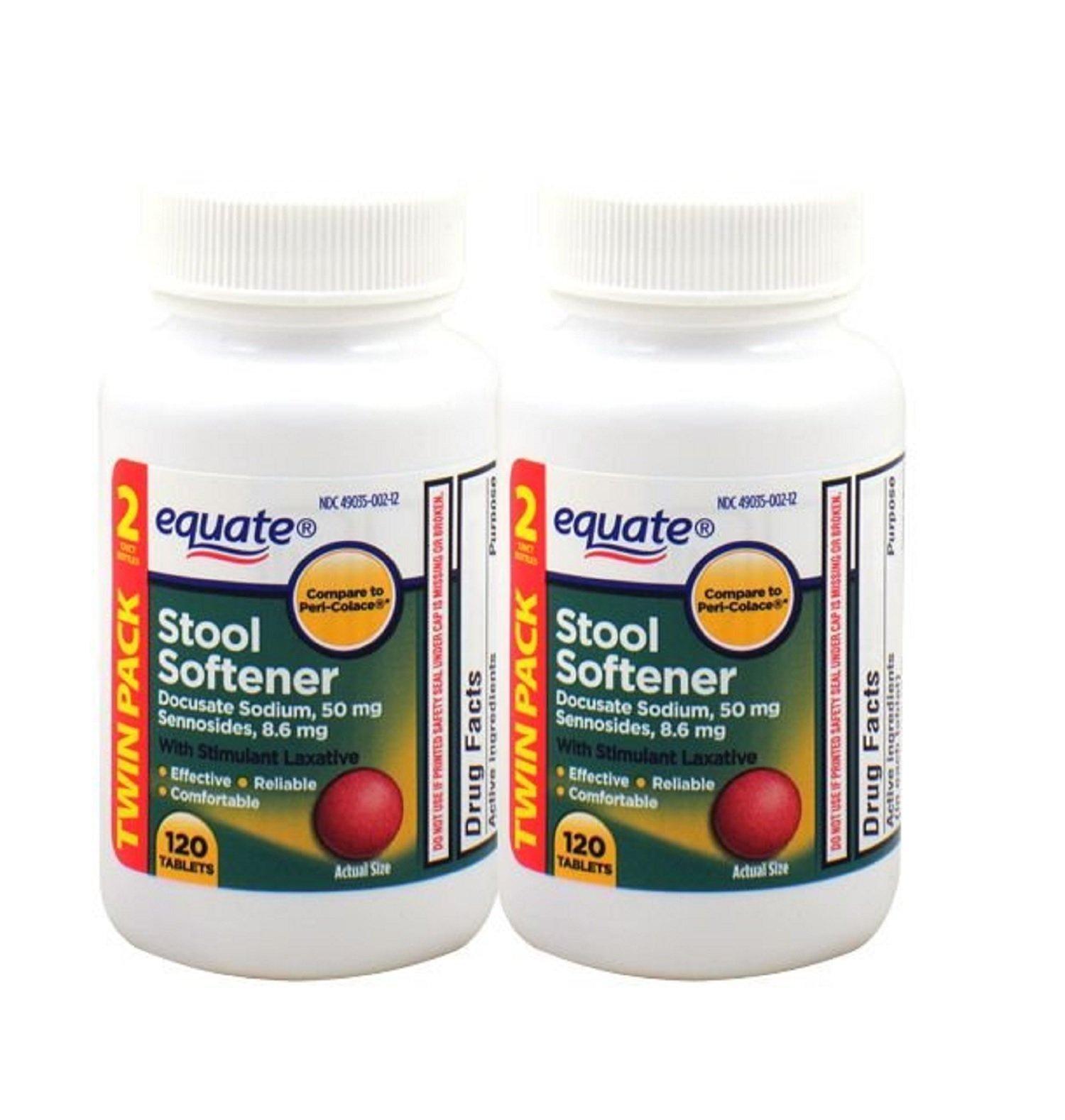 Equate Stool Softener With Stimulant Laxative 240