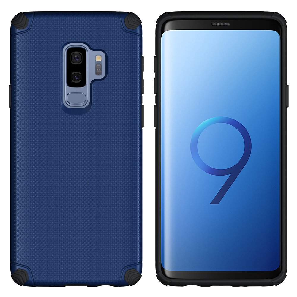 Galaxy S9 Plus Case, CASEVASN [Dual Layer] [Shockproof] Armor Rugged Defender Shock Absorbent Defender Protective Case with Air Vent Magnetic Car Vent ...