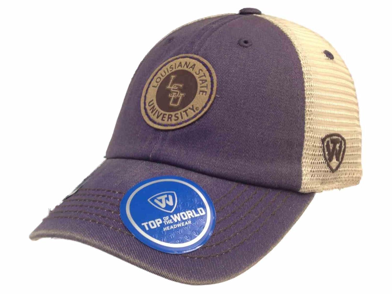 LSU tigres remolque morado Outlander - Sombrero de gorra de malla ...