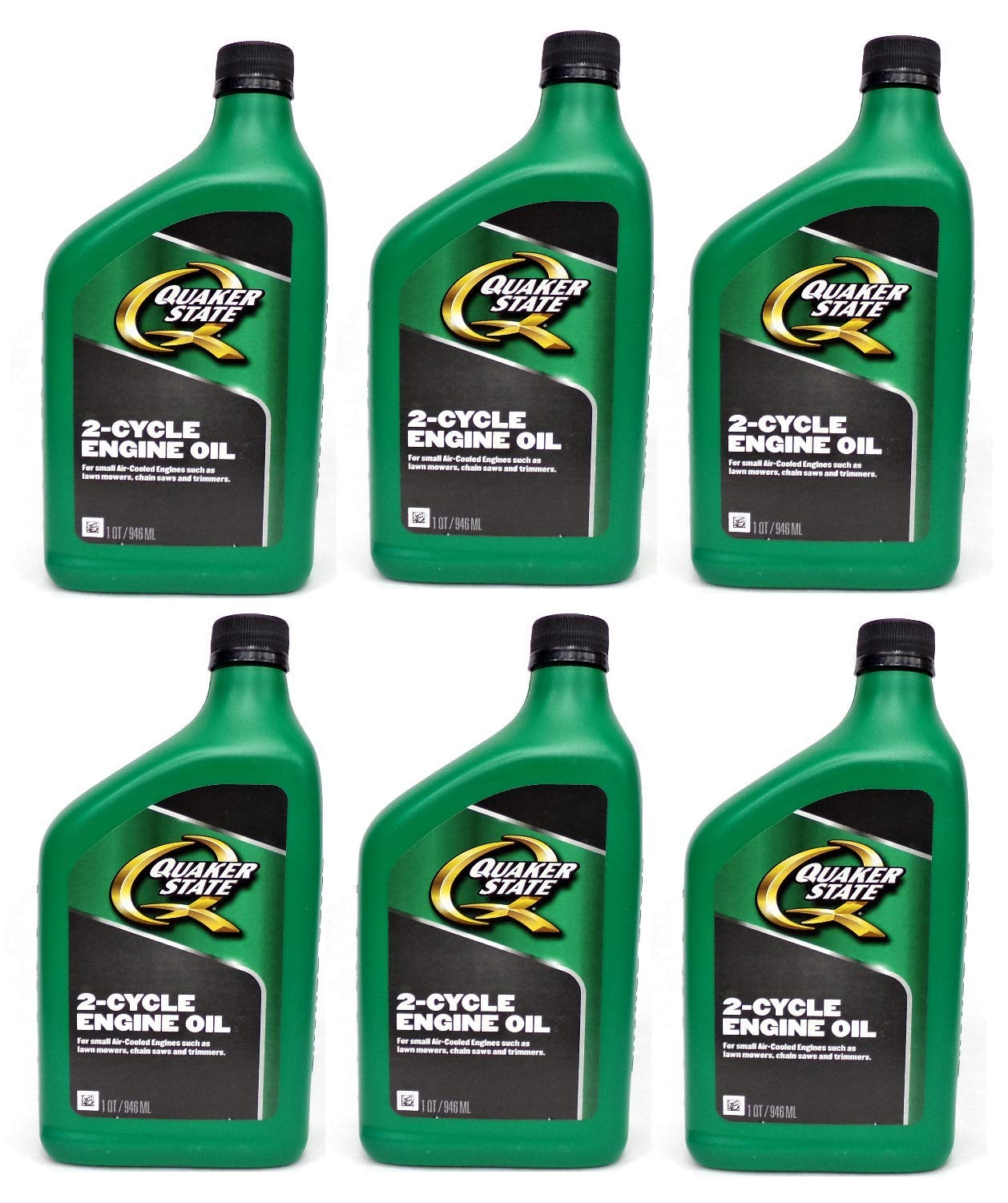 Quaker State Pennzoil 2- Cycle, 2- Stroke Engine Oil for Small Air Cooled Engines, 6 Quarts