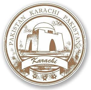 2 x 20cm- 200mm Karachi Pakistan Vinyl SELF ADHESIVE STICKER Decal Laptop Travel Luggage Car iPad Sign Fun #5951