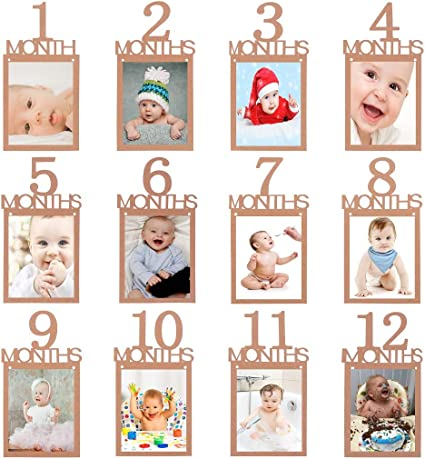 1st Birthday Recording 1-12 Month Photo Banner Garlands Monthly Bunting Decor !