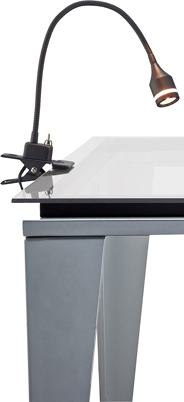 "Adesso 3217-01 Prospect 9.5"" -14.5"" LED Clip Lamp, Black, Smart Outlet Compatible"