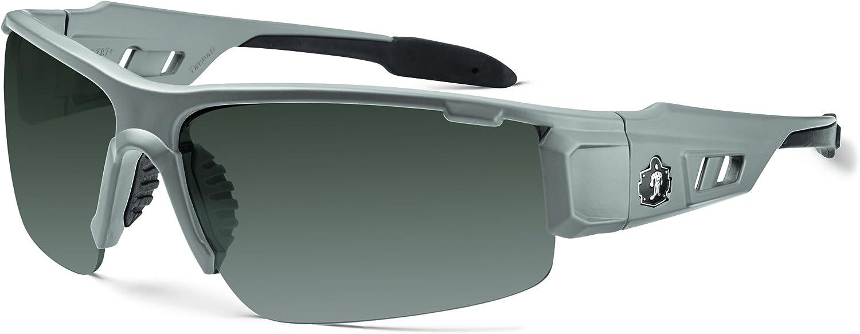 Ergodyne Skullerz Dagr Safety Sunglasses - Matte Gray Frame, Smoke Lens