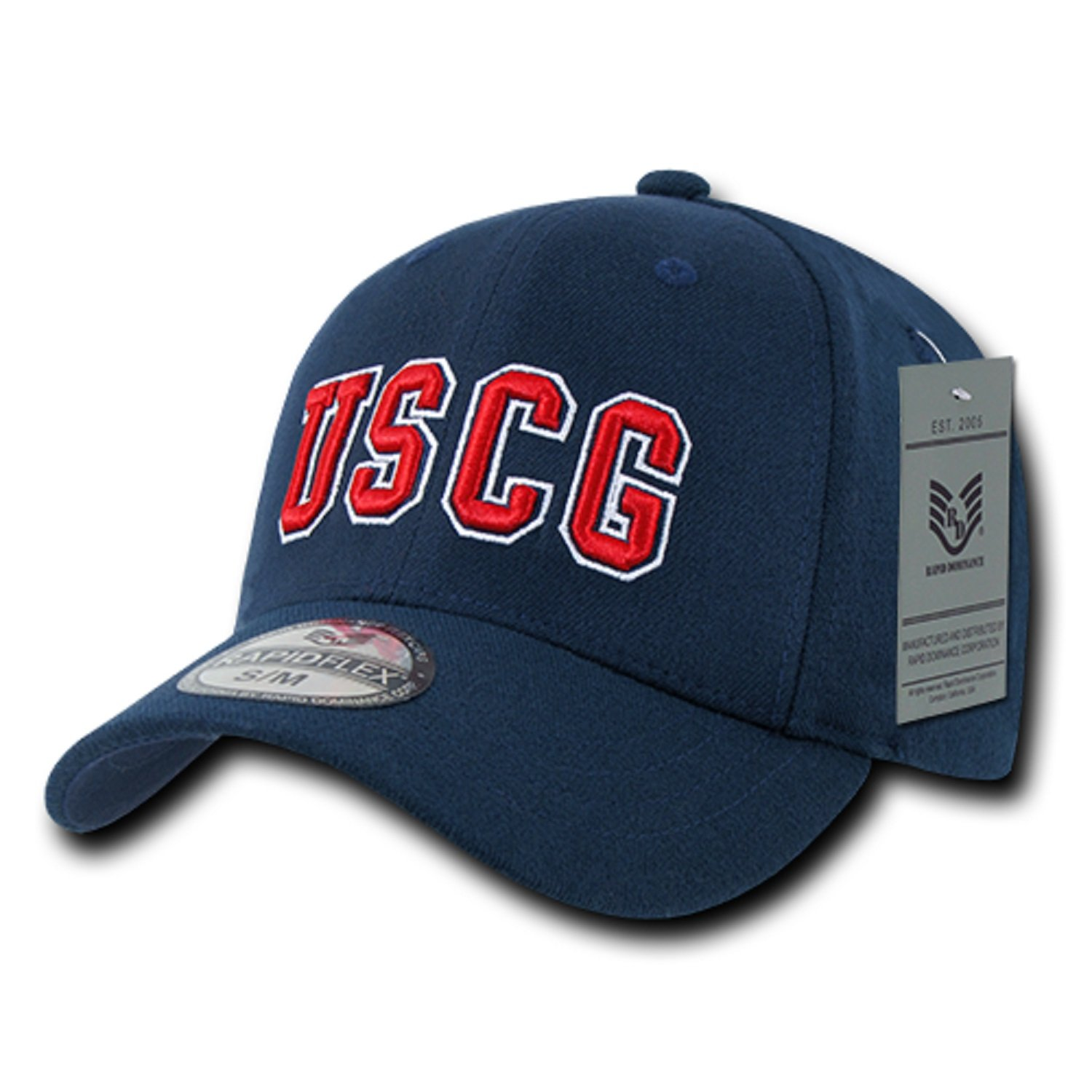 819b8300dc8e9 United States US Coast Guard USCG Flex Wings Baseball Ball Structured  Fitted Cap Hat S M L XL