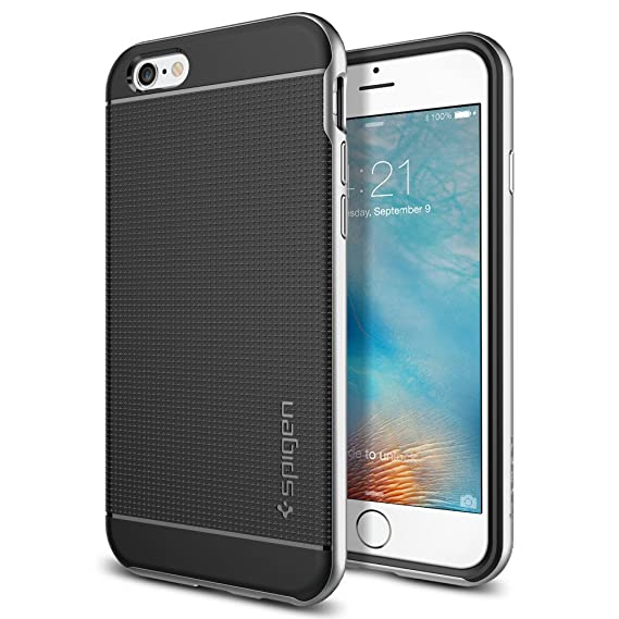 size 40 242d4 e7dcf Spigen Neo Hybrid Designed for Apple iPhone 6S Case (2015) - Satin Silver
