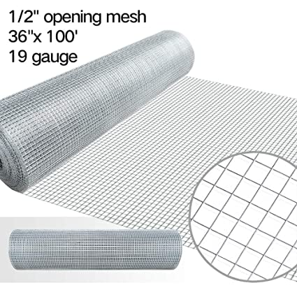 1/2 Hardware Cloth 36 x 100 19 gauge Galvanized Welded Wire Metal ...