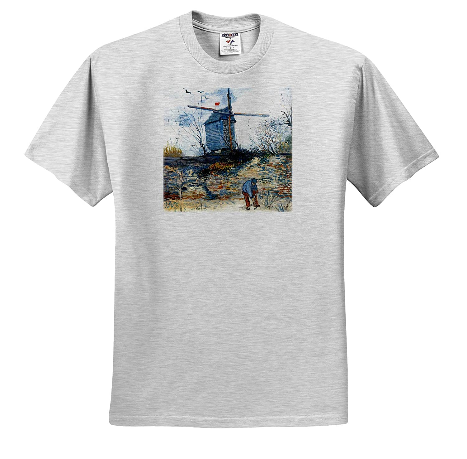 Van Gogh Masterpieces T-Shirts The Mill of Galette 3dRose VintageChest
