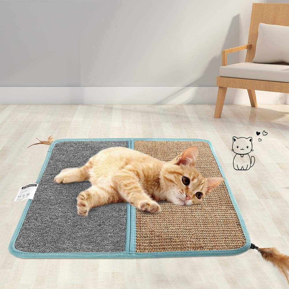 STARRYFIELD Cat Scratcher Mat, Natural sisal cat Claw pad, cat Claws and Scratch pad for Protective Furniture, cat Play Toys