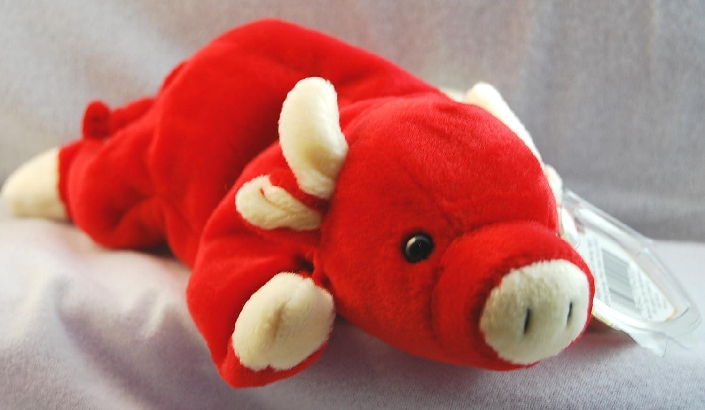 Amazon.com  Ty Beanie Babies Snort - Bull  Toys   Games e067c38969c